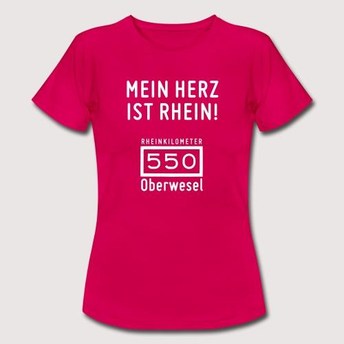 T-Shirt Mein Herz ist Rhein - Frauen T-Shirt