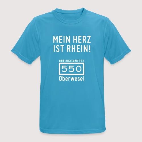 T-Shirt mein Herz ist Rhein - Männer T-Shirt atmungsaktiv
