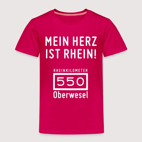 Kinder-T-Shirt Mein Herz ist Rhein - Kinder Premium T-Shirt