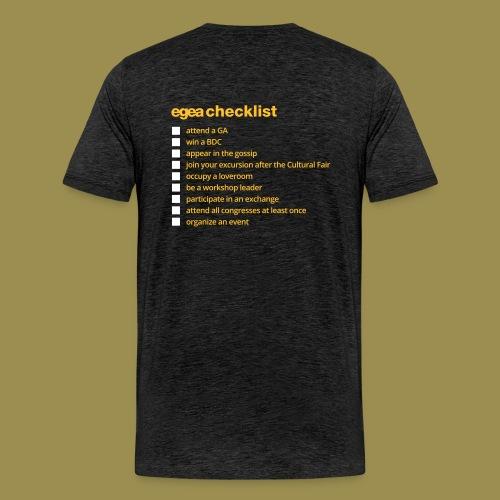 T-Shirt EGEA Checklist - MEN charcoal - Men's Premium T-Shirt
