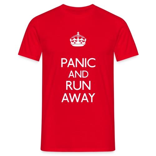 Panic and Run Away Tee - Men's T-Shirt
