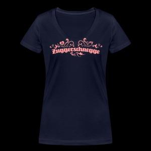 Zuggerschnegge - Print/rosa - Mädle - Frauen Bio-T-Shirt mit V-Ausschnitt von Stanley & Stella