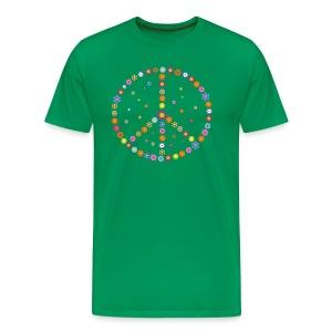 Peace - Flower Power - Männer Premium T-Shirt