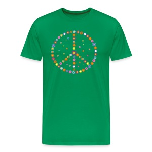Peace - Flower Power - Männer Premium T-Shirt