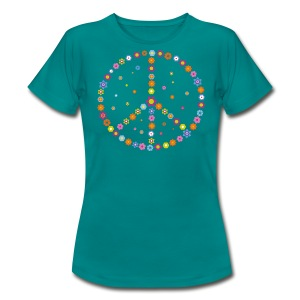 Hippie Peace Flower Power - Frauen T-Shirt