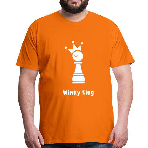 Winky Chess King Shirt - Mannen Premium T-shirt