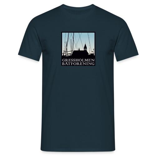 herre, klassisk, marine - T-skjorte for menn