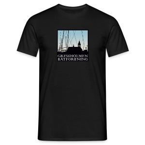 T, herre, sort - T-skjorte for menn