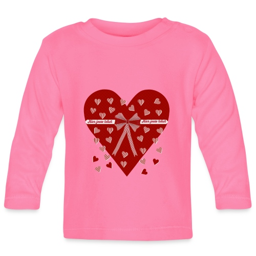 Rood hart, strepen en strik - Baby Long Sleeve T-Shirt