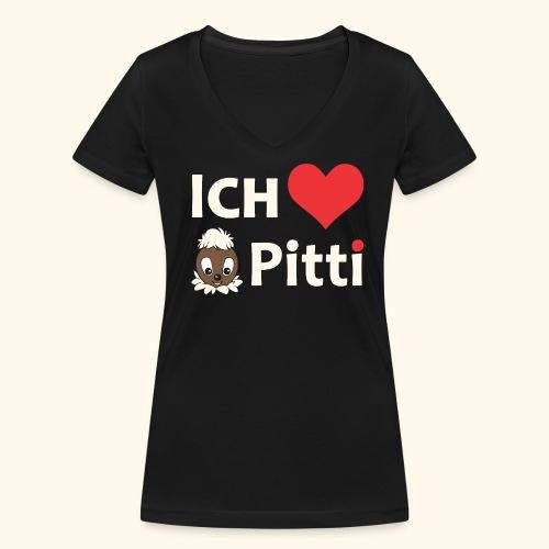Frauen V-Ausschnitt Ich liebe Pitti - Frauen Bio-T-Shirt mit V-Ausschnitt von Stanley & Stella