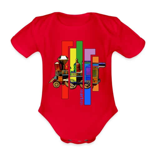 SMARTKIDS COCO LOCOMOFO - front print - 56/92 kids - multi color - Organic Short-sleeved Baby Bodysuit