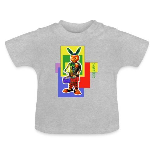 SMARTKIDS SLAMMIN' RABBIT  - front print - 3/24 months kids - multi color - Baby T-Shirt