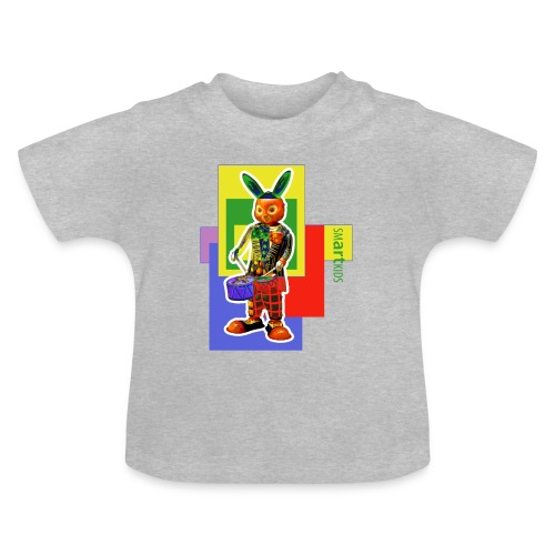 SMARTKIDS SLAMMIN' RABBIT  - front print - 3/24 months kids - multi color - Baby T-Shirt