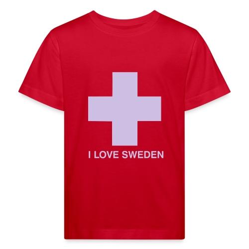 I LOVE SWEDEN - KIDS - Kinder Bio-T-Shirt