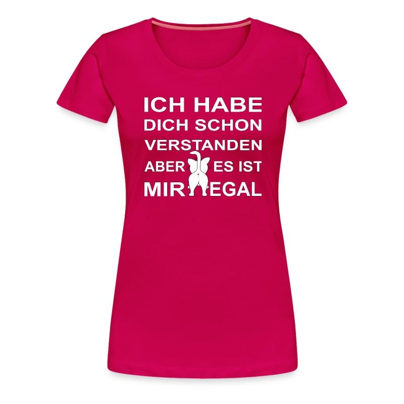 Ist mir egal - weiss - Frauen Premium T-Shirt
