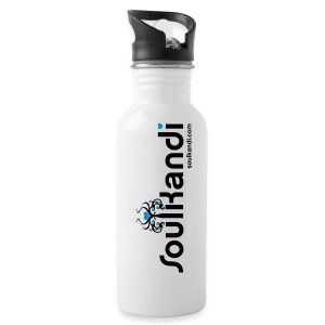 Black & Blue Logo Print Drink Bottle 600ml - Water Bottle