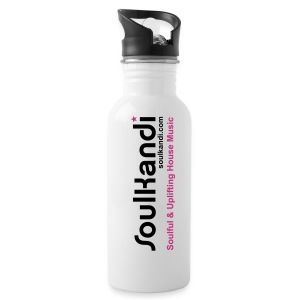 Black & Pink Logo Print Drink Bottle 600ml - Water Bottle