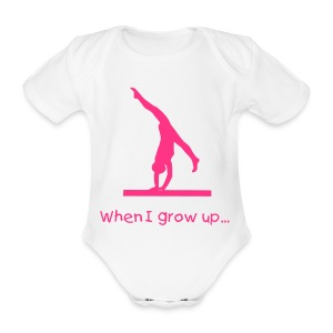 When I grow up... Gymnast - Organic Short-sleeved Baby Bodysuit