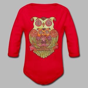 OWL FAMILY ----------- (3mths-24mths) - Organic Longsleeve Baby Bodysuit