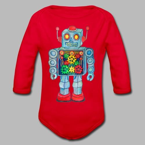 ROBOT  ----------- (3mths-24mths) - Organic Longsleeve Baby Bodysuit
