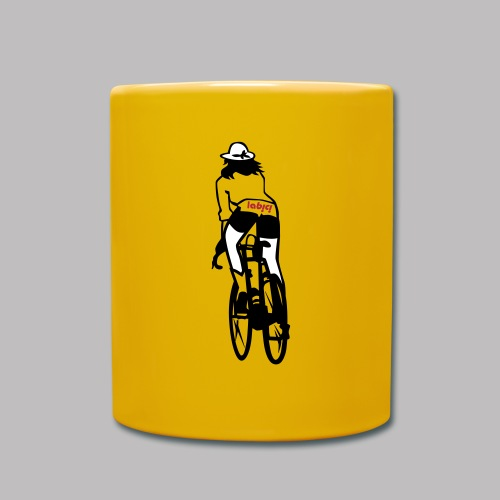 Coffee Mug La Bici Girl - gelb - Tasse einfarbig