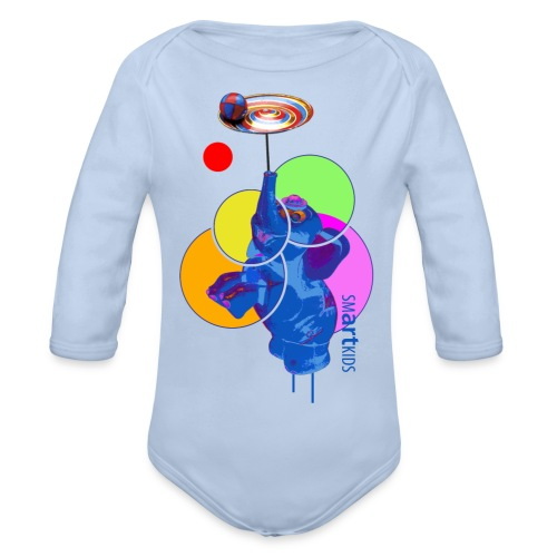 SMARTKIDS MUMBO JUMBO - front print - 56/92 kids - multi color - Organic Longsleeve Baby Bodysuit