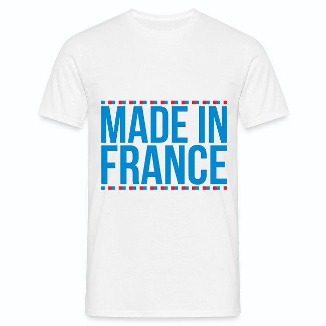 c05ce1e46 T shirt bleu blanc rouge Made in France M3 | T-shirt Homme