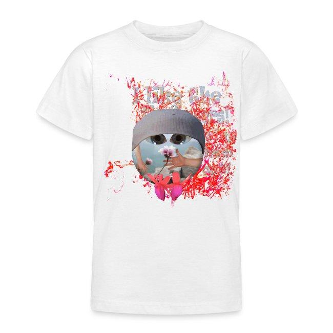 I like the flowers, børne t-shirt