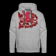Sweatshirts ~ Herre Premium hættetrøje ~ Hættetrøje, Go fish! Be happy!