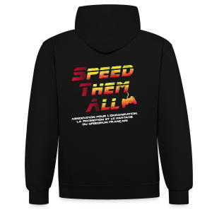 Speed Them All - Recto Verso - Mixte - Sweat-shirt contraste