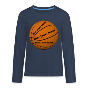 Basketbal - Teenager Premium shirt met lange mouwen