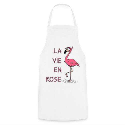 Tablier cuisine Flamant rose, la Vie en Rose - Tablier de cuisine