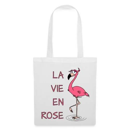 T-shirt Bio Femme Flamant rose, la Vie en Rose. 281 kr. Tote Bag Flamant  rose, la Vie en Rose - Stoffveske dd618302e8d6