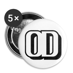 5-PACK SMALL BUTTONS LOGO OD - Buttons small 25 mm