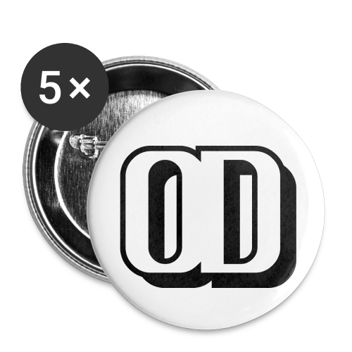 5-PACK SMALL BUTTONS LOGO OD - Buttons small 1''/25 mm (5-pack)