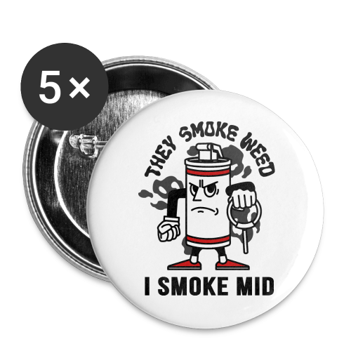 5-PACK SMALL BUTTONS - Buttons small 25 mm