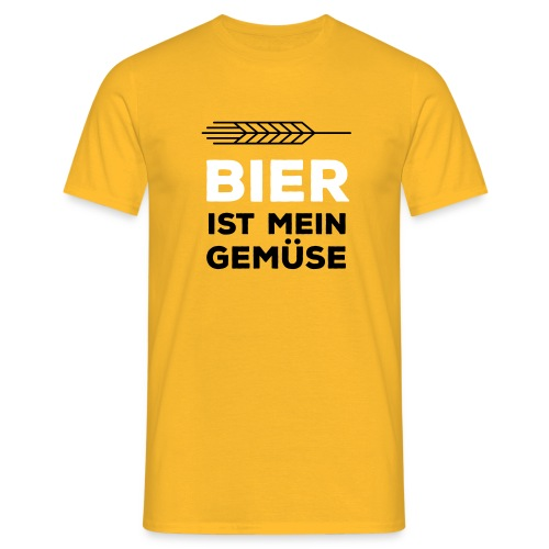Bier Ist Mein Gemüse - Männer T-Shirt