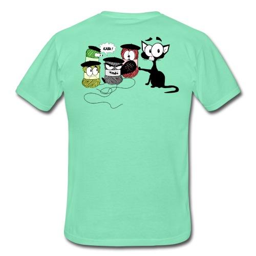 Chat et pelotes enfants - T-shirt Homme
