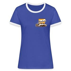 vrouwen T shirt met logo front & back - Vrouwen contrastshirt