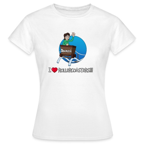 I Love Rollercoasters!!! - Shirt (VROUW) - Vrouwen T-shirt