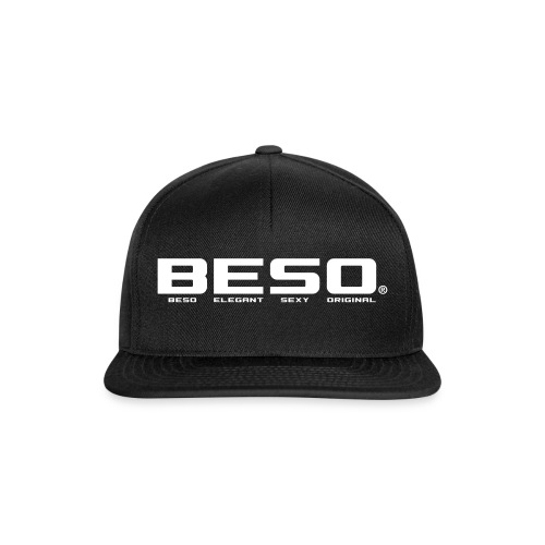B-E-S-O Casquette Snapback noir/blanc - Casquette snapback