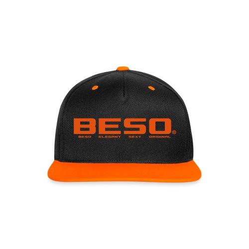 B-E-S-O Casquette Snapback noir/orange - Casquette Snapback contrastée
