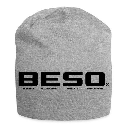 B-E-S-O Bonnet en jersey gris chiné/noir - Bonnet en jersey