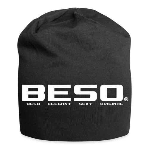 B-E-S-O Bonnet en jersey noir/blanc - Bonnet en jersey