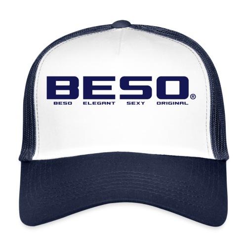 B-E-S-O Casquette Trucker Cap blanc/navy - Trucker Cap