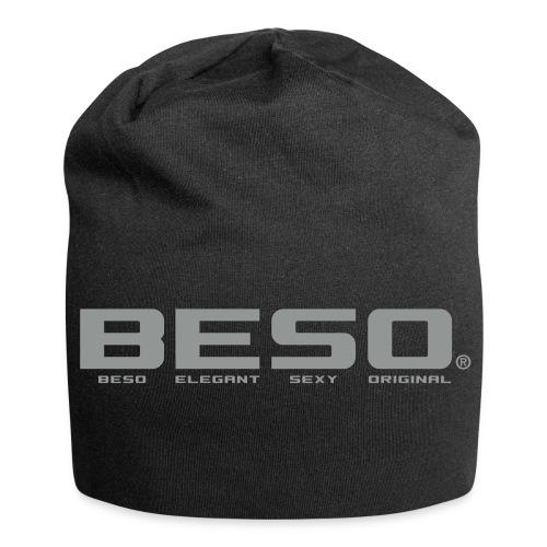 B-E-S-O Bonnet en jersey noir/gris - Bonnet en jersey