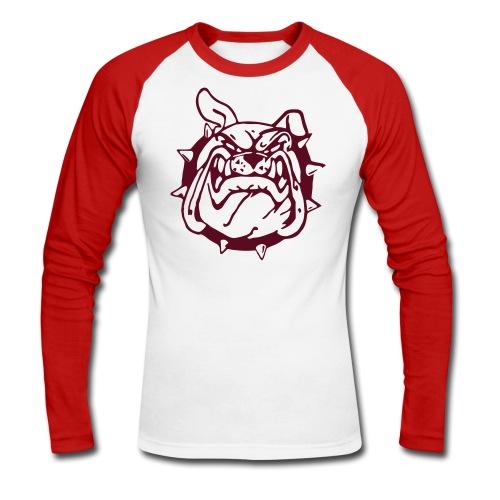 Celtic Bulldogs Rampage Team Baseball Shirt rot-weiß - Männer Baseballshirt langarm