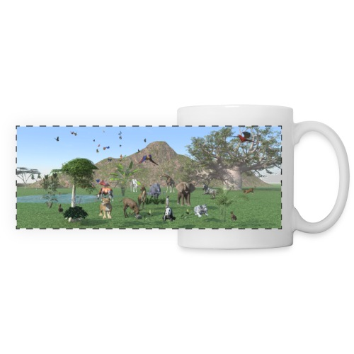 Exotische wilde dieren - Panoramic Mug