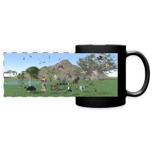 Exotische wilde dieren - Full Color Panoramic Mug
