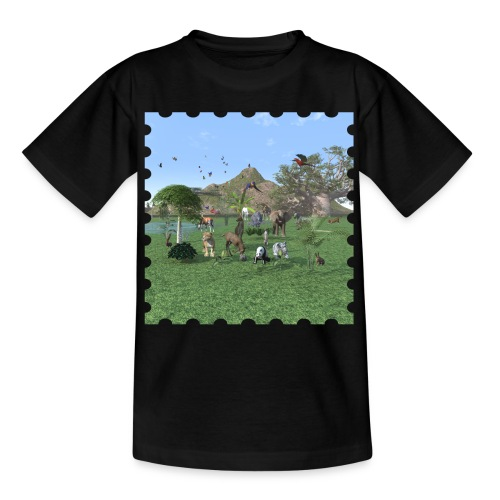 Exotische wilde dieren - Kids' T-Shirt